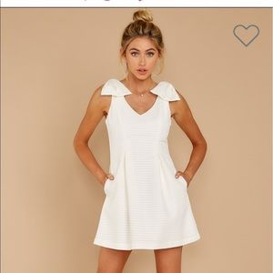 White Bow Dress - new with tags